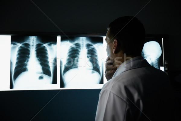 Stockfoto: Arts · werken · ziekenhuis · onderzoek · mannelijke · arts · werk