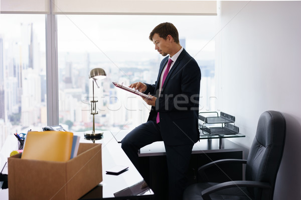 Just Hired Manager Business Man Moves To New Office Stock photo © diego_cervo