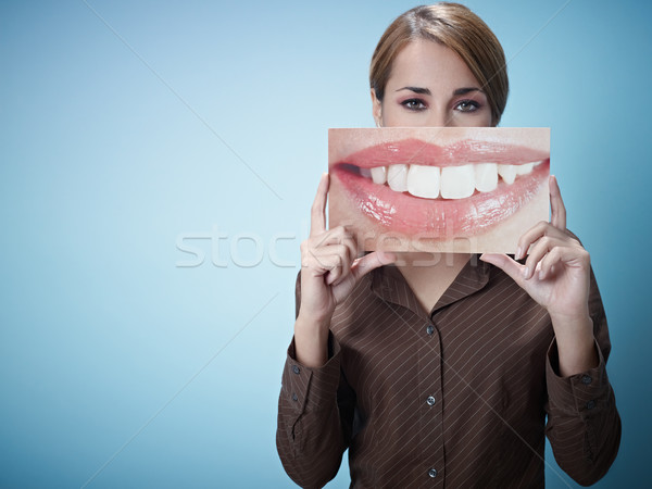 businesswoman with big mouth Stock photo © diego_cervo