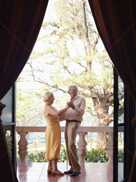 old man and woman dancing outdoor Stock photo © diego_cervo