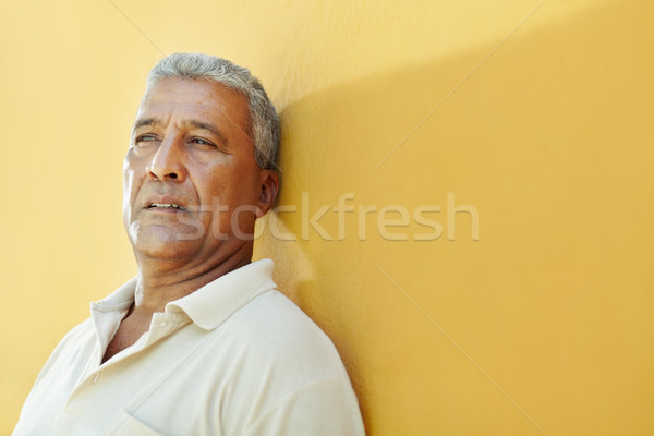 portrait of sad mature hispanic man Stock photo © diego_cervo