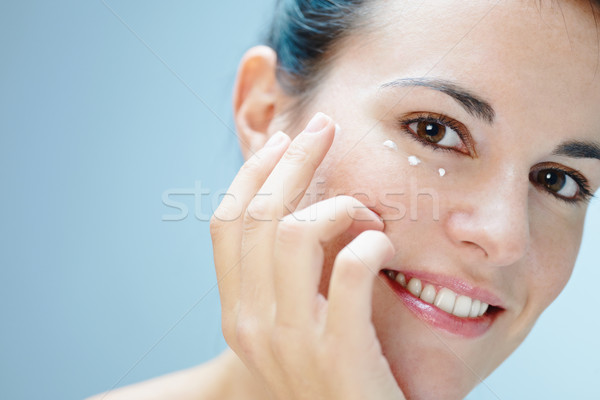 Göz krem kadın kadın Stok fotoğraf © diego_cervo