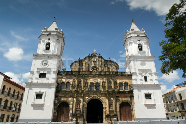 Panama City Central America Cathedral in plaza Mayor Casco Antig Stock photo © diego_cervo
