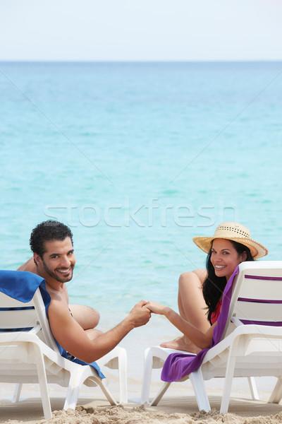 Foto stock: Homem · mulher · lua · de · mel · Cuba · marido · esposa
