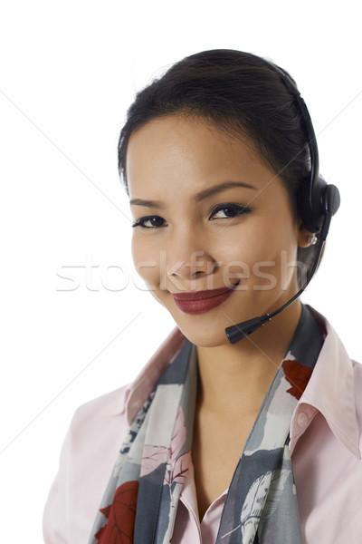 亞洲的 女孩 工作的 顧客服務 代表 年輕人 商業照片 © diego_cervo