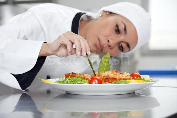 Photo stock: Chef · adulte · Homme · cuisine · travaux · travail