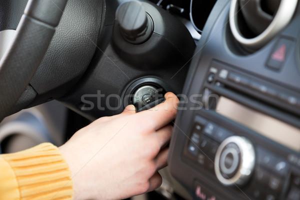 Araba anahtarları adam anahtar adam oto Stok fotoğraf © diego_cervo