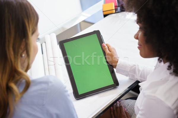 Mulheres arquiteto verde tela dois Foto stock © diego_cervo