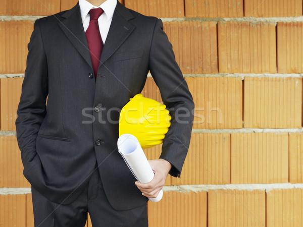 Zdjęcia stock: Architekta · czerwony · ściany · widoku · stałego