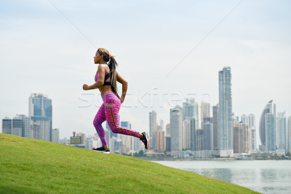 Woman Running And Working Out At Morning In The City Stock photo © diego_cervo