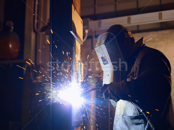 Photo stock: Homme · travaux · lourd · industrie · manuel