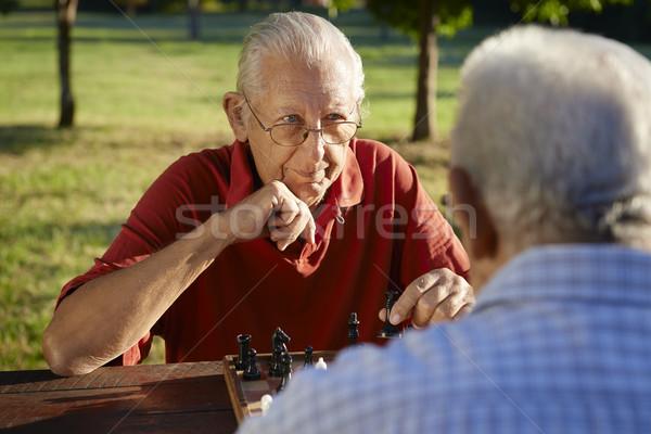 Stock fotó: Aktív · nyugdíjas · emberek · kettő · idős · férfiak