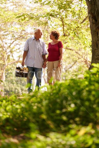 Senior homem mulher casal velho caminhada Foto stock © diego_cervo
