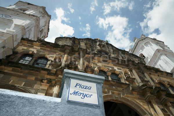 Panama şehir katedral merkezi Amerika görmek Stok fotoğraf © diego_cervo
