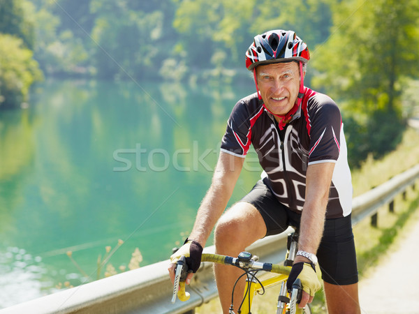 senior cyclist Stock photo © diego_cervo