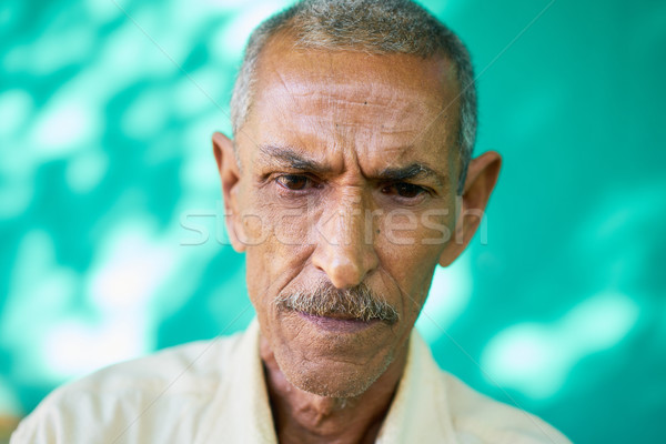 Depressed Latino Old Man With Sad Worried Face Expression Stock photo © diego_cervo