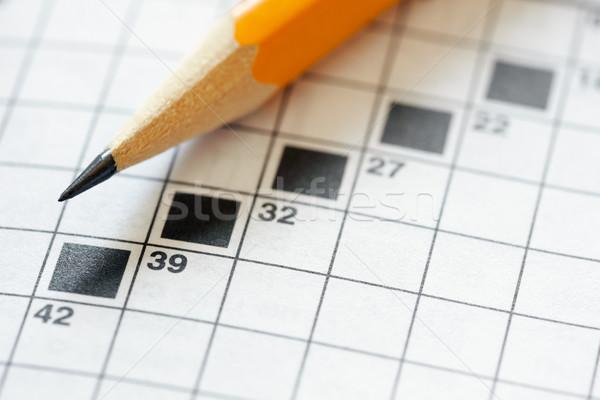 Kreuzworträtsel Puzzle Bleistift Kopie Raum Papier