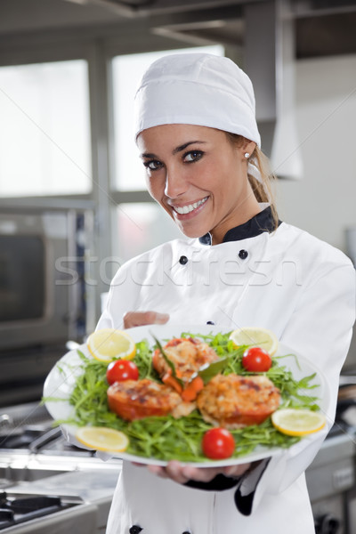 Photo stock: Chef · portrait · adulte · Homme · cuisine
