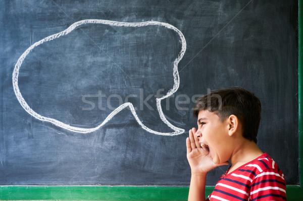 Frustrazione lotta argomento ispanico ragazzo Foto d'archivio © diego_cervo