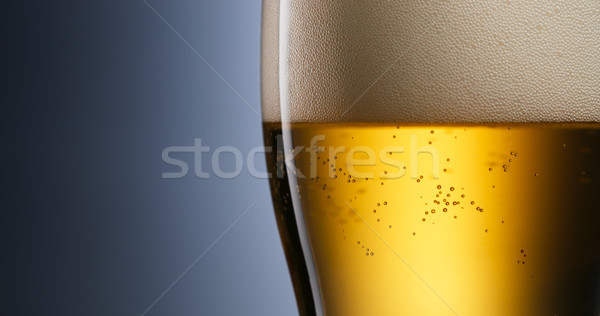 Alcoholism And Addiction Issues Lager Beer Pouring Into Glass Stock photo © diego_cervo