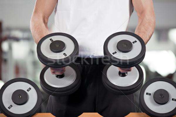 Gymnase homme poids formation Photo stock © diego_cervo