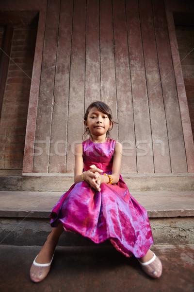 Foto d'archivio: Cute · felice · piccolo · asian · ragazza · sorridere