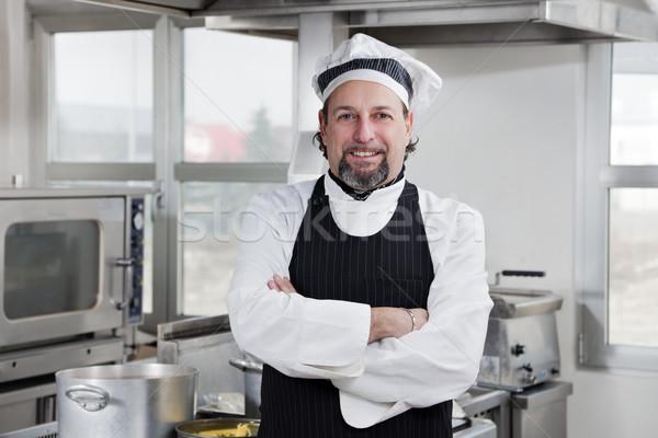 повар портрет глядя камеры кухне человека Сток-фото © diego_cervo