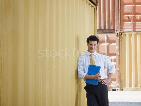 Stockfoto: Zakenman · scheepvaart · portret · volwassen · zakenman