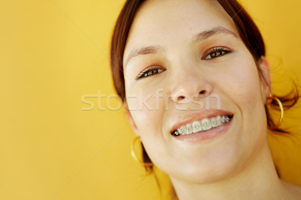 young college student smiling at camera Stock photo © diego_cervo
