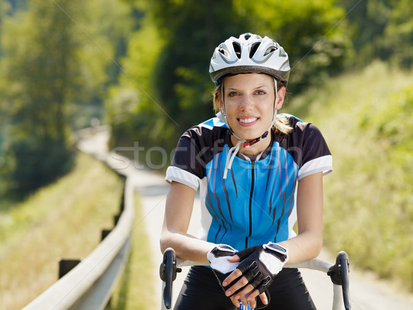 female cyclist Stock photo © diego_cervo