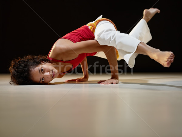 Stock foto: Latino · Frau · Yoga · Ausübung · Porträt