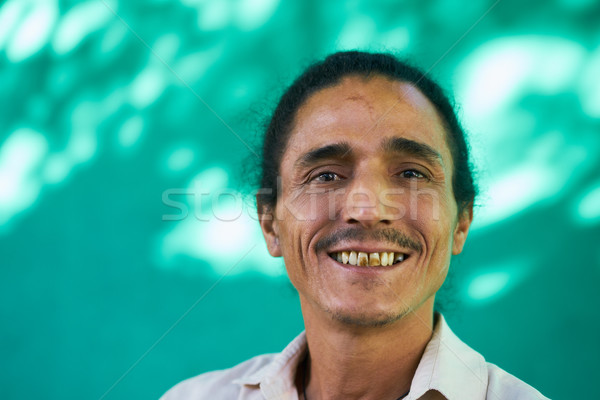 Happy People Portrait Of Latino Man With Goatee Laughing Stock photo © diego_cervo