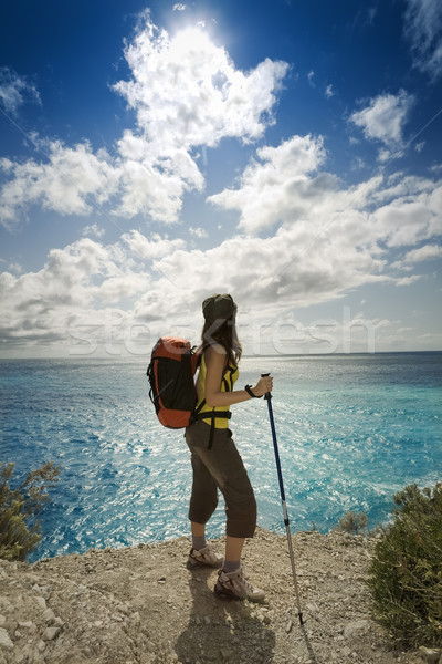 Stock photo: hiking