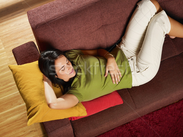 woman sleeping on sofa Stock photo © diego_cervo