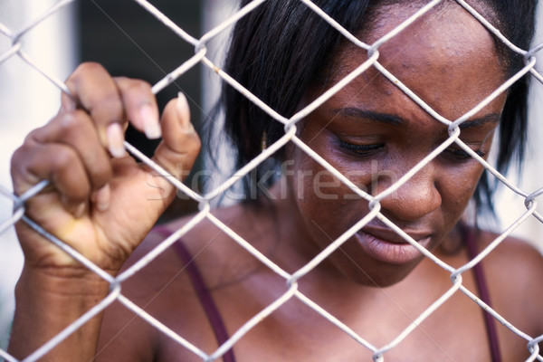 Desperate Depressed Woman Crying For Domestic Violence And Abuse Stock photo © diego_cervo