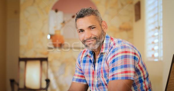 Portré boldog homoszexuális férfi néz kamera Stock fotó © diego_cervo