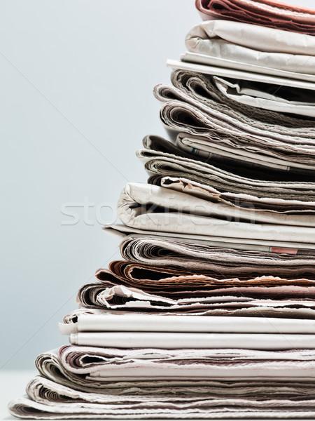 öreg újságok boglya copy space papír tárgyak Stock fotó © diego_cervo