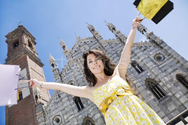 ショッピング 表示 成人 イタリア語 女性 ストックフォト © diego_cervo