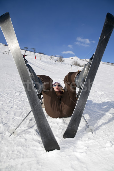 skier Stock photo © diego_cervo