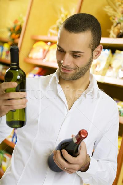 итальянской кухни человека супермаркета два стороны торговых Сток-фото © diego_cervo