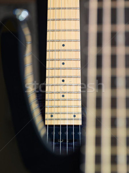 detail of electric guitar cords and frets Stock photo © diego_cervo