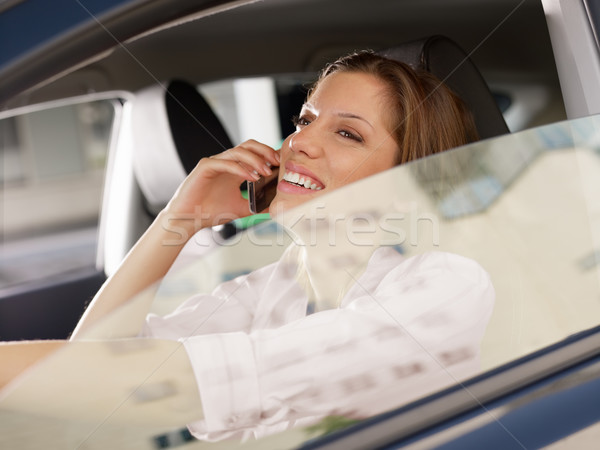 woman driving car Stock photo © diego_cervo