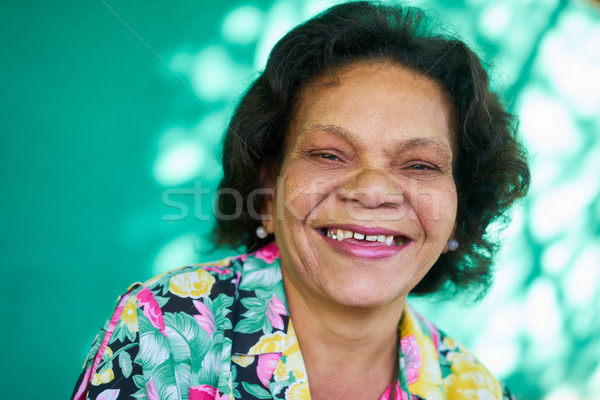 Real People Portrait Funny Senior Woman Hispanic Lady Smiling Stock photo © diego_cervo
