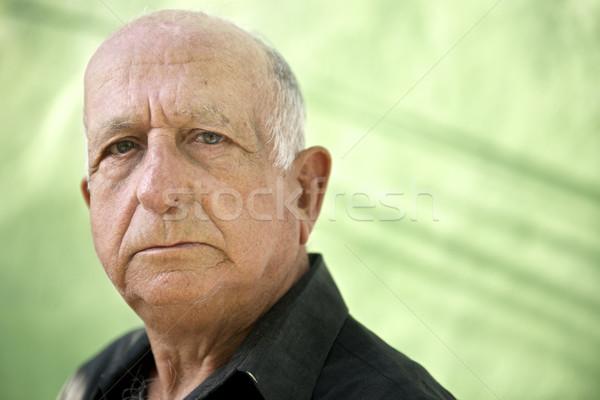 Retrato sério velho hispânico homem olhando Foto stock © diego_cervo