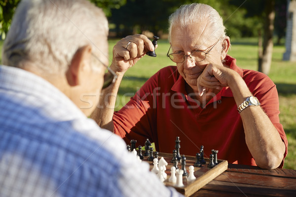 Ativo aposentados pessoas dois senior homens Foto stock © diego_cervo