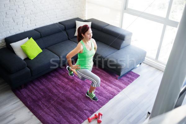 фитнес подготовки домой Сток-фото © diego_cervo