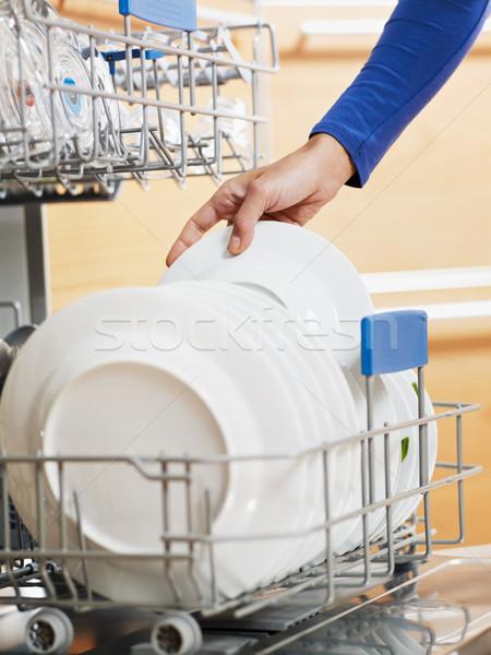 Kadın ev işi mutfak ev eller Stok fotoğraf © diego_cervo