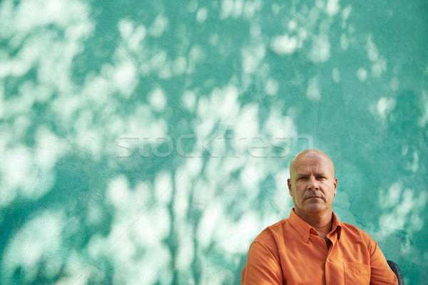 Portrait of serious mature hispanic man Stock photo © diego_cervo