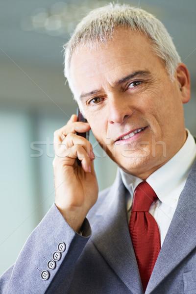 Maturo imprenditore telefono ufficio ritratto uomo d'affari Foto d'archivio © diego_cervo