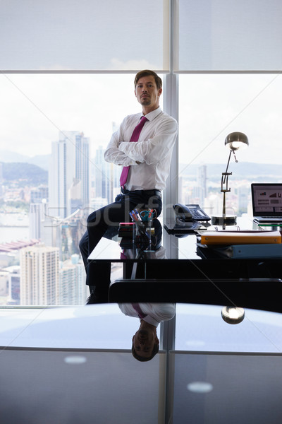 Portrait Of Serious White Collar Worker Looking At Camera Stock photo © diego_cervo